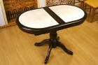 стол овальный с керамической плиткой венге 120х70 см. под заказ
