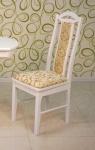 стул деревянный мягкий 'Жаклин' белый