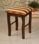 табурет деревянный мягкий 'Элегия' темный орех