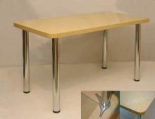 стол из камня 120х70 см. бежевый