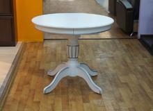 стол круглый белый с серебром