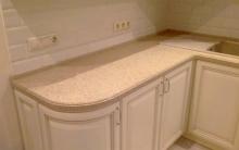 кухонная каменная столешница