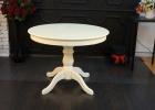 круглый стол слоновая кость 100 см