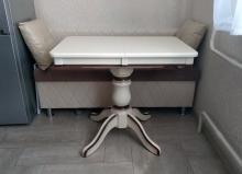 стол раскладной слоновая кость с патиной