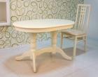 стол кухонный овальный слоновая кость 120х80 см.