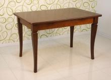 обеденный раскладной стол 120х80 см. темный орех