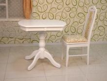 стол овальный раздвижной 80х60 белый под заказ