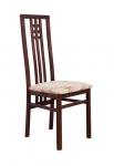 стул деревянный полумягкий 'Сакура' темный орех