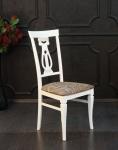 стул деревянный белый с золотом