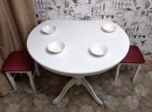 стол полукруглый белый к стене