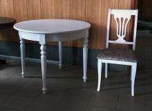 стол круглый диаметром 100 см. белый