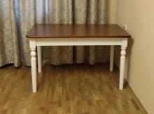 стол двухцветный белый и орех