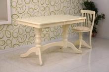 стол кухонный раскладной 120х80 см. слоновая кость