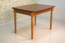 обеденный раскладной стол 120х80 см. светлый орех