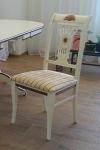 стул деревянный слоновая кость с патиной