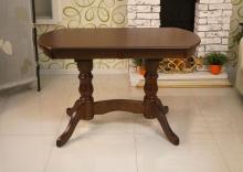 стол кухонный овальный темный орех