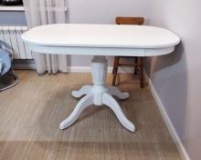 стол белый полуовальный